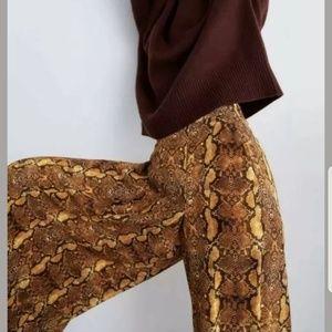 ZARA snakeskin cullotes wide leg pants small